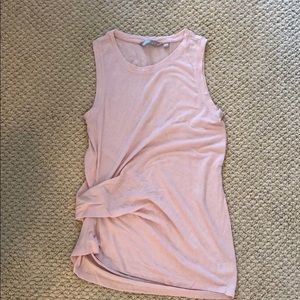 Athleta Light Pink Tank with Side Synch